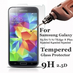 For Samsung Galaxy S3 4 5 Mini S6 7 Edge S8 PlusTempered Glass Protective Screen Protector Film