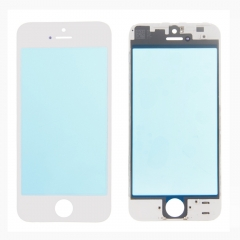 For iPhone 5 5G Front Outer Glass Lens Screen + Frame