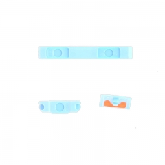 For iPhone 5C 3 in 1 Button Key Kit Set ( Power / Volume / Mute ) White Blue