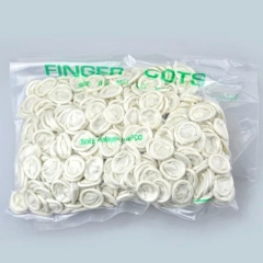 100pcs Rubber Disposable Latex Finger Cots Anti Static Finger Stall 2inch