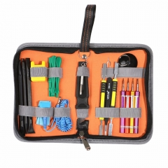 Repair Opening Tools With Screwdrivers Tweezers Tech Tool Kit Bag For iPhone 8 7 6s 6 5s 5c 5