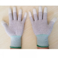 ESD PU Fingertip Coated Non-slip Anti-Static Fit Work Gloves White