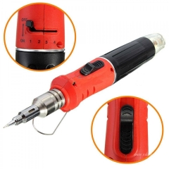 HS-1115K 10 in 1 Professional Butane Gas Soldering Iron Set 26ml Welding Kit Torch