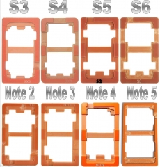 LCD Outer For Samsung Galaxy S3 4 5 6 7 Note 3 4 5 Glass Lens Repair Mould Mold Alignment LOCA UV Glus