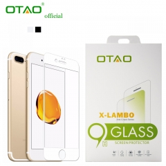 For iPhone 7 8 Plus Corning Gorilla OTAO Full Cover 0.33mm Tempered Glass Screen Protector Film