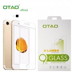 For iPhone 7 8 OTAO Full Cover 0.33mm Corning Gorilla Tempered Glass Screen Protector Film