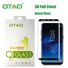 For Samsung Galaxy S8 S8 Plus OTAO 3D Full Cover Curved 0.33mm Corning Gorilla Tempered Glass Screen Protector Film