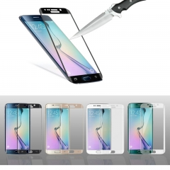 For Samsung Galaxy S6 Edge 3D Full Cover 0.26mm Tempered Glass Screen Protector Film