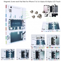For iPhone 5 5s 6 6S Plus Magnetic Screw Chart Mat Repair Guide Holder Pad Tool