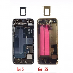 Metal Back Cover Battery Housing Door Replace Parts For Phone 5 5G 5S