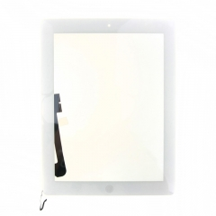 For iPad 4 Screen Touch Digitizer Front Glass With Sticker Home Button
