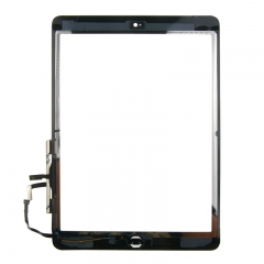 For iPad Air / iPad 5 Screen Touch Digitizer Front Glass With Sticker Home Button