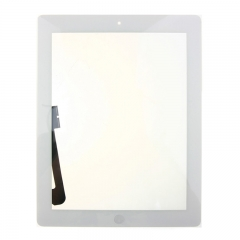 For iPad 3 Screen Touch Digitizer Front Glass With Sticker Home Button