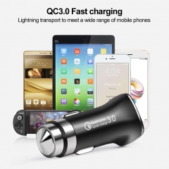 Qualcomm Certified QC3.0 Quick Charge With USB Fast Car Charger Safety Hammer