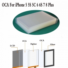 50x For iPhone 5 6 6S 7 8 Plus 250um Optical Clear Adhesive Glue OCA Film