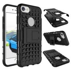 For iPhone 7 8 Invisible Holder Drop Resistance TPU + PC Phone Case Cover