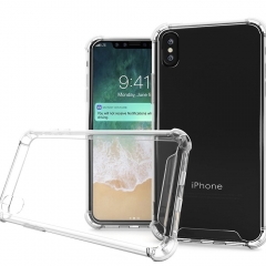 For iPhone X Case Clear Slim Shockproof Soft TPU Bumper Cover