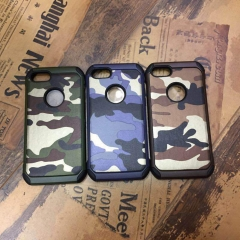 For iPhone 5 5S 6 6S 7 8 Plus 2 In 1 Armor Plastic + TPU Army Camo Camouflage Shockproof Phone Cover