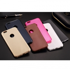 For iPhone 5 5S 6 6S 7 8 Plus Ultra-thin Exposed TPU Soft Shell Leather veins Back Cover Protective Phone Case