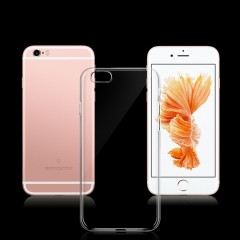 For iPhone 5 5S 6 6S 7 8 Plus Clear Transparent Soft Silicone Protective Back Case Cover
