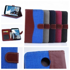 For Motorola Google Nexus 6 Denim Skin Cover Card Holder Case