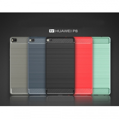 For Huawei P8 P8 Lite Case Anti-knock TPU Brushed Business Mobile Phone Case