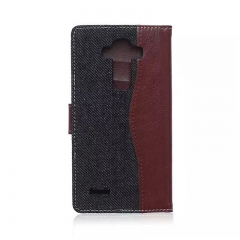 For LG G4 5 6 V10 V20 Denim Skin Cover Card Holder Case