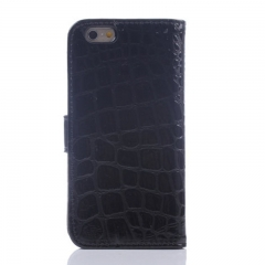 For iPhone 6 6S 7 8 Plus X Crocodile Pattern Leather Card Holder Back Case Cover