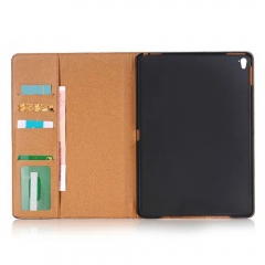 "For iPad Air Mini Pro 12.9"" Leather Wallet Stand Cover W/ Card Slot Case"