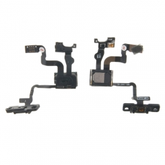 For iPhone 4S Proximity Light Sensor Power Button Flex Cable Ribbon