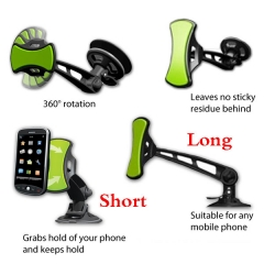 GripGo Universal Car Mobile Cell Phone Mount GPS Navigation Holder For Samsung iPhone Sony HTC