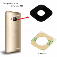 For HTC One M9 Rear Back Camera Glass Lens Cover With Adhesive
