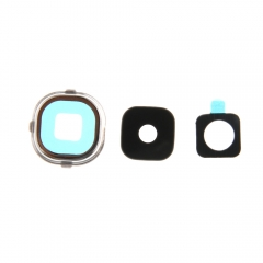 For Samsung Galaxy S4 I9500 I9505 I337 M919 I545 Rear Back Camera Glass Lens Cover Assembly With Frame And Adhesive