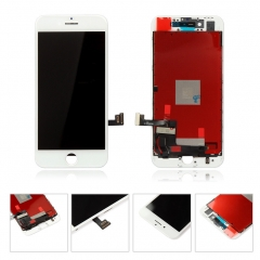 For iPhone 8 LCD Display + Screen Touch Digitizer + Frame Assembly White