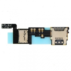 For Samsung Galaxy Note 4 N910F Sim Card / Micro SD Holder With Flex Cable