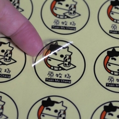 1000x Custom-made Printed PVC Sticker Label Waterproof For Company Logo
