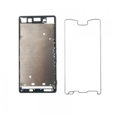 For Sony Xperia Z3+ Z3 Plus Z4 E6553 E6533 Housing Middle Frame Chassis Holder + Waterproof Ring + Back Battery Cover