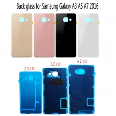 For Samsung Galaxy A3 A5 A7 2016 A310 A510 A710 A F T P V  Back Rear Glass Door Battery Cover