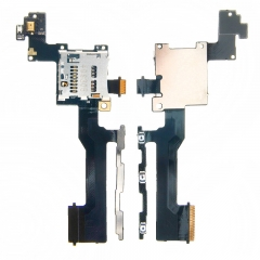 For HTC One M9 M9U M9W Memory Card Reader Tray Slot Holder Proximity Light Sensor Flex Cable