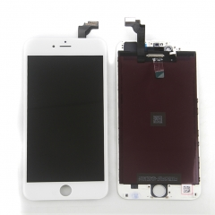 LCD Display Screen Touch Digitizer Ear Mesh Camera Ring Assembly +Repair Tools +Protector For iPhone 6 Plus White