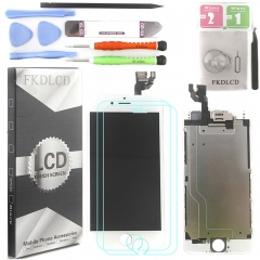 Full Assembly LCD Display Screen Touch Digitizer With Front Camera Ear Speaker Light Sensor +Repair Tools +Protector For iPhone 6 White