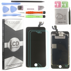 Full Assembly LCD Display Screen Touch Digitizer With Front Camera Ear Speaker Light Sensor +Repair Tools +Protector For iPhone 6S Plus Black