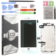 Full Assembly LCD Display Screen Touch Digitizer With Front Camera Ear Speaker Light Sensor +Repair Tools +Protector For iPhone 7 Plus White