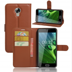 Litchi Wallet Leather Flip Case Cover For ACER Liquid Z6 Plus